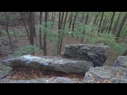 Macedonia Brook State Park - Kent, CT - Ridge Trail Rocks - 9-22-2017