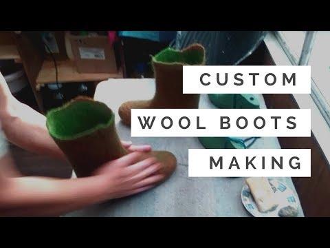Felt Wool Boots - Making Process - SmartWoolers FELTFORMA