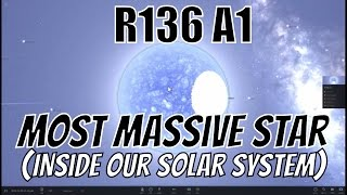 What If The Most Massive Star R136a1 Was In Our Solar System?