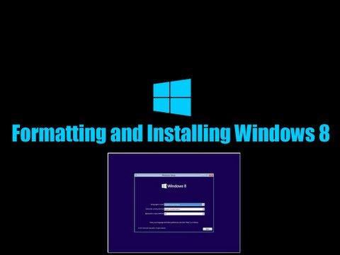 How To Format C Drive(OS) and Install Windows 8