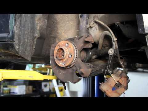 VW MK4 Loaded Steering knuckle Installation - Hub, bearing + steering knuckle
