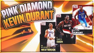 3c6585c697ae NEW 20th ANNIVERSARY PINK DIAMOND KEVIN DURANT WITH PINK DIAMOND WESTBROOK  AND GREG ODEN REVIEW!