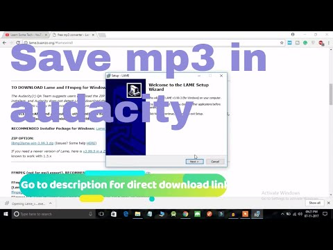 How to save file as mp3 in Audacity   2018