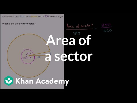 Area of a sector given a central angle | Circles | Geometry | Khan Academy