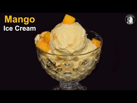 Mango Ice Cream Recipe Without Machine - How to make Mango Ice Cream - Homemade Ice Cream Recipe