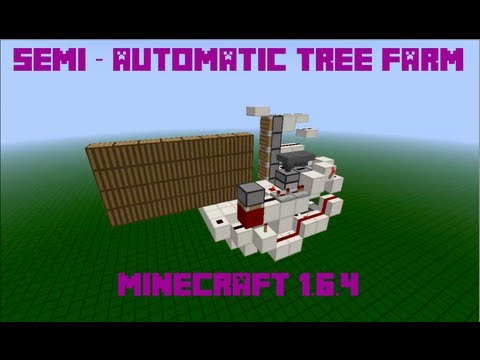 Semi-Automatic Tree Farm, some sapling placement required ;) - Minecraft 1.7.2