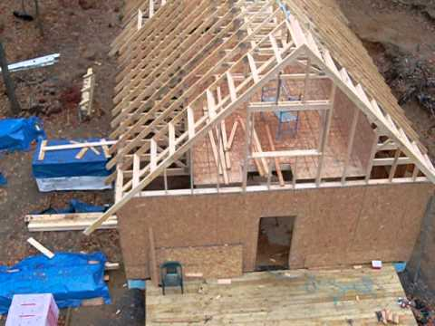 Stick framing the gable.... what a long day, although short for the time worked....