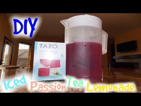 DIY Starbucks Iced Passion Tea Lemonade!