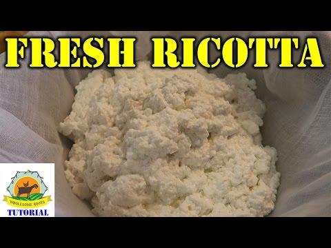 Fresh Homemade Ricotta Cheese Tutorial