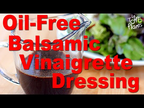 Oil-Free Balsamic Vinaigrette Salad Dressing Low Fat Vegan - One Minute Recipes