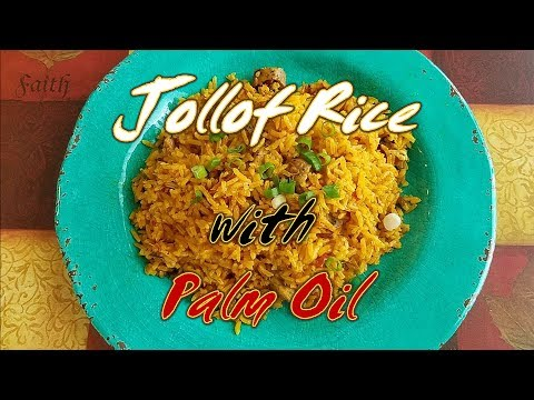 Authentic Ghana Jollof Rice with Palm Oil