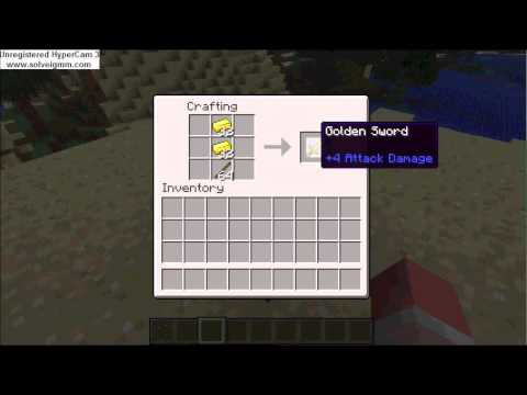 Minecraft Wiki: How to make a sword!