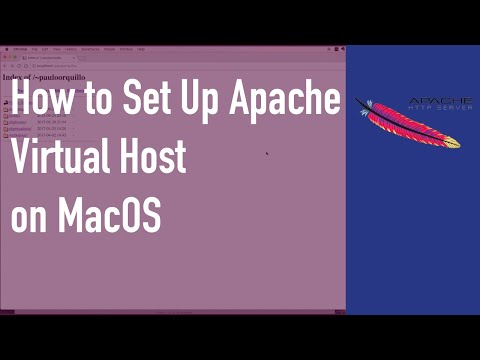 How to Setup Apache Virtual Host on MacOs Sierra