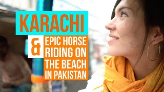 Best Biryani in KARACHI?! & Horse Riding on Pakistani Beach 💛