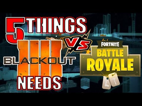 5 Things that Call of Duty Blackout needs to compete with Fortnite