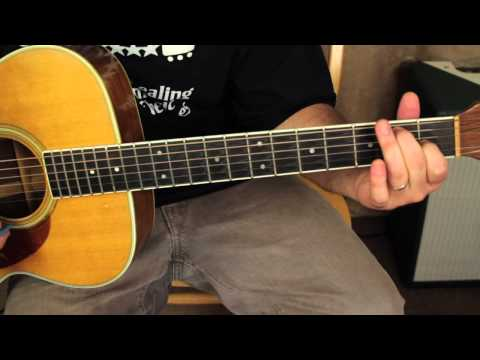 David Bowie - Space Oddity - Acoustic Songs Guitar Lessons - Tutorial