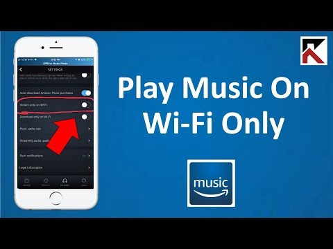 How To Play Music On Wi-Fi Only Amazon Music