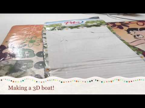 Making a 3D boat model out of scrap wood