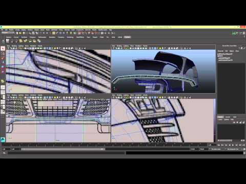 Modelling a Car in Maya Series 1 [P19]