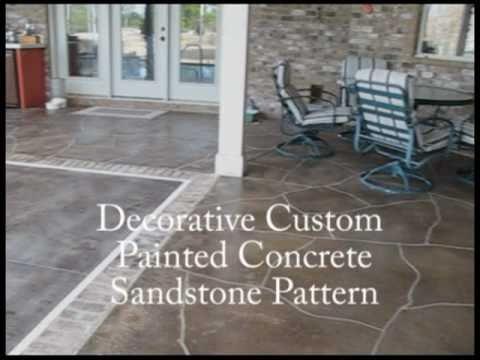 Custom Decorative Painted Concrete - Sandstone Pattern