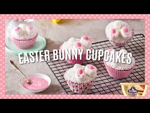 Easy Easter Bunny Cupcakes Recipe » Bake With Stork