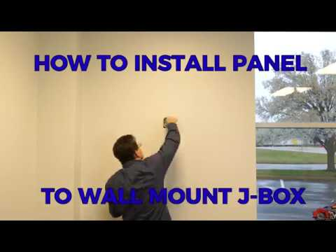 How to Install LED Light Panel on Wall Junction Box