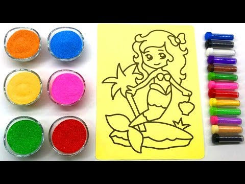 Mermaid Sand Painting | 10 Kinds of Colored Sand | Sand Painting art for Kids