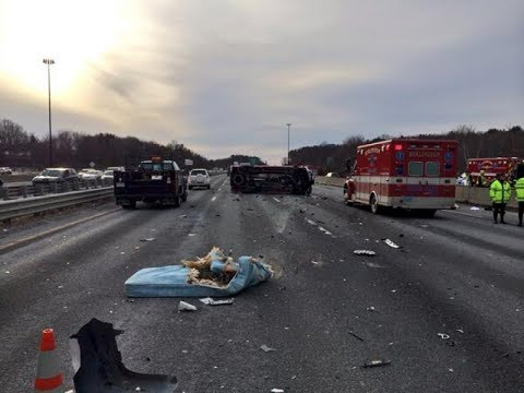 Accident caused by road debris: