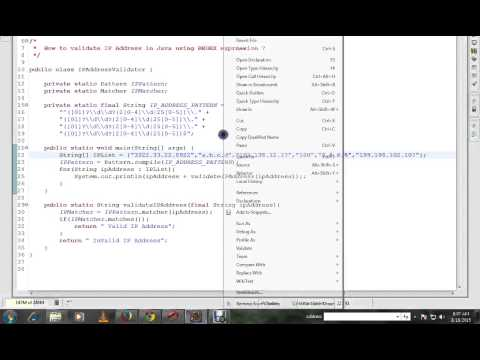 JAVA DEMO  HOW TO VALIDATE IP ADDRESS WITH REGULAR EXPRESSION