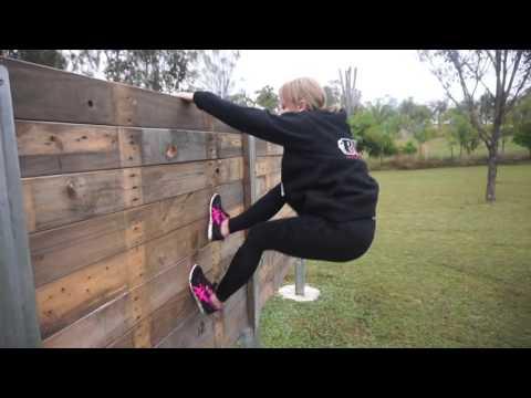 5'1ft vs 6ft wall climb obstacle