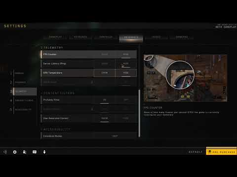 How to Enable FPS Counter in Black Ops 4