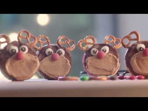 Chocolate Rudolph Cupcakes Recipe Demonstration - Bake with Stork