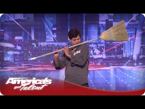 Michael Nejad Makes Music with a Broom and Dustpan - America's Got Talent Season 7 Audition