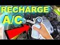 How To Recharge 00-07 Toyota Highlander AC System -Jonny DIY