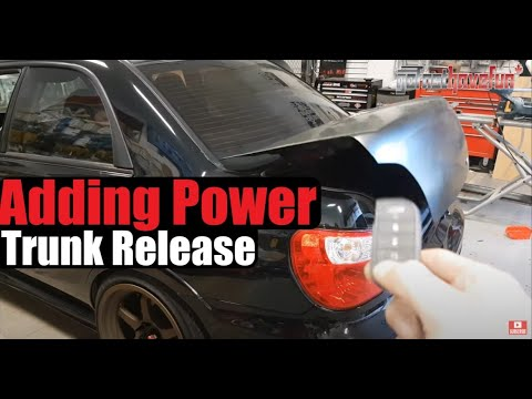 How to Add Power Trunk/ Boot Release (Actuator Install)