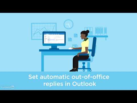 Sending automatic out-of-office replies in Outlook