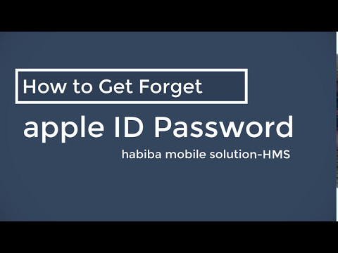 How to Recovery Forget Password from apple ID