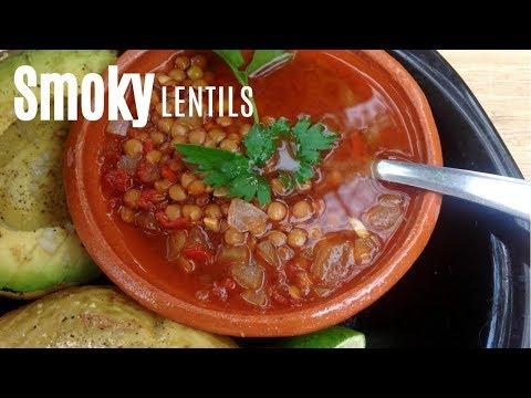 Homemade Smoky Lentils - 15.5g Protein/Serving - Vegan Recipe