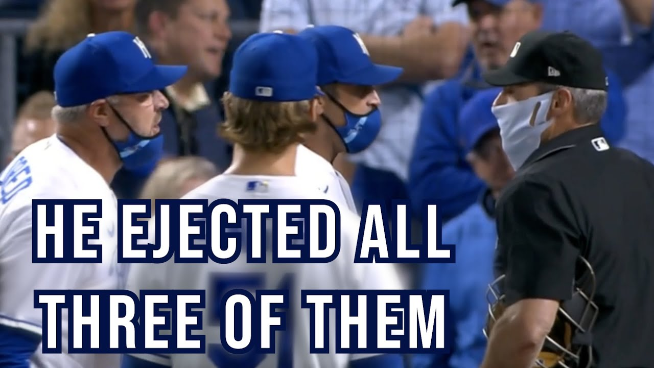 Ángel Hernández ejects three Royals in one inning, a breakdown