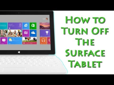 How to Turn Off the Surface Tablet