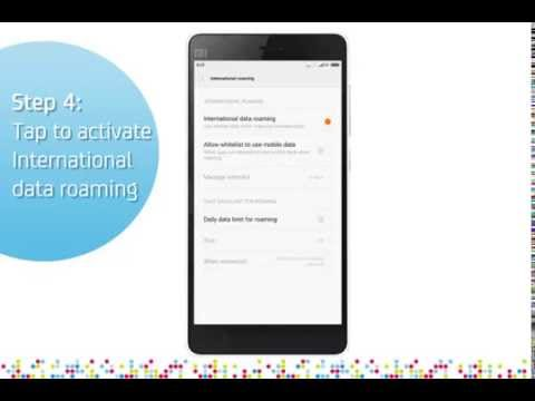 Xiaomi Mi 4i: Turn on/off data roaming