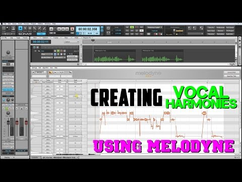 Creating Vocal Harmonies Using Melodyne