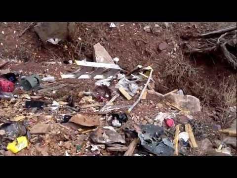 Trash at informal shooting range near Placerville Colorado on public property (BLM Land)