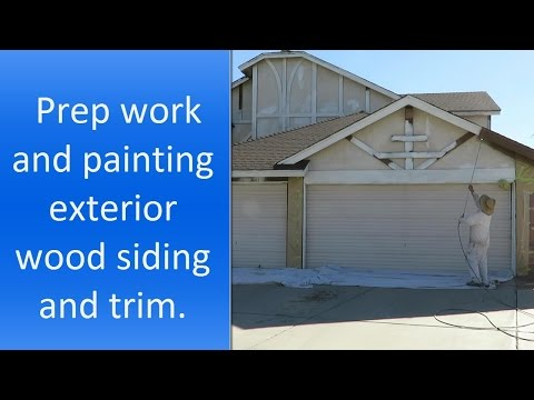 How to paint exterior wood siding and trim.