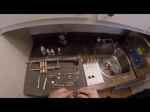 Cleaning a Trumpet