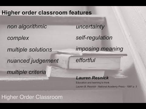 Higher order classroom skills