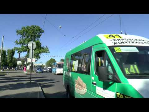 ST PETERSBURG TROLLEYBUSES EVENING RUSH HOUR MAY 2018
