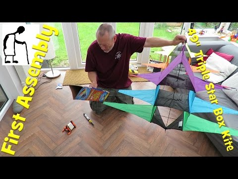 First Assembly 49-inch Triple Star Box Kite