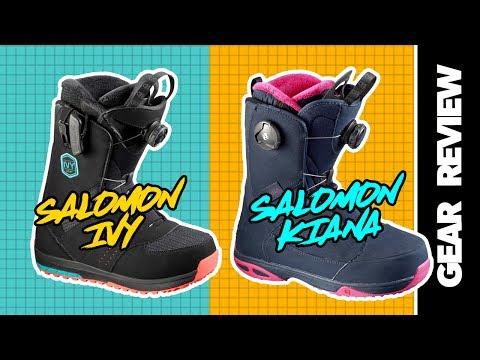 2017 Salomon Kiana and Ivy Womens Snowboard Boots Review   SNOWBOARD.COM