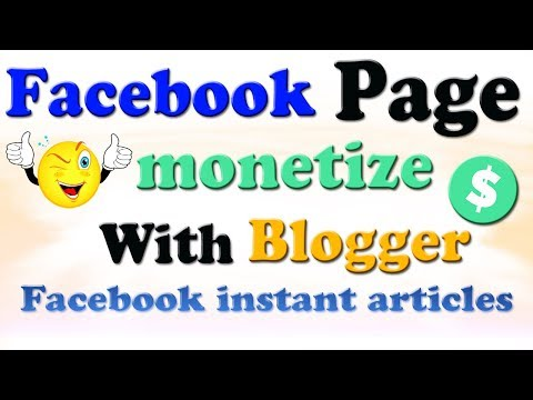 How to setup facebook instant articles with blogger